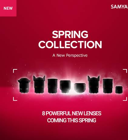 Samyang is launching 8 new lenses this spring