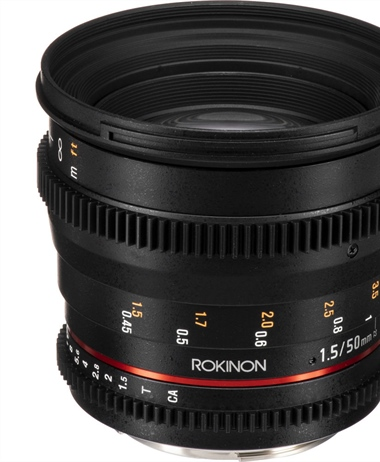 Deal: Rokinon 50mm T1.5 AS UMC Cine DS Lens for Canon EF Mount