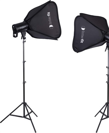 Studio Essentials 100W LED Monolight 2-Light Kit with Stands and Softboxes