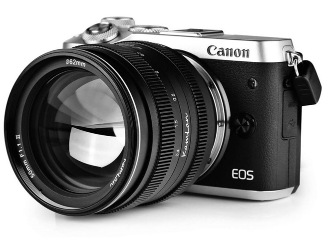 Kamlan 50mm F1.1 II officially announced for the EOS-M