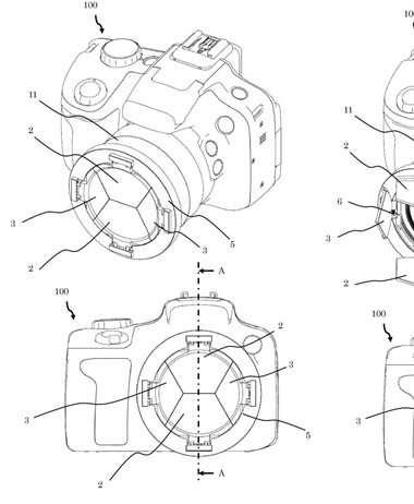 Canon Patent Application: A clever lens cap