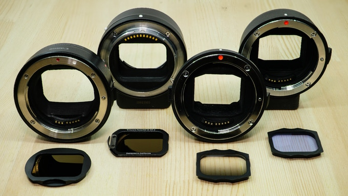 Aurora Aperture introduces a new filters for the EOS RF to EF adapter