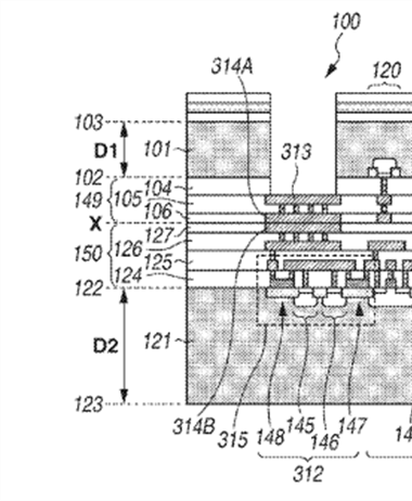 Canon Patent Application: Stacked image sensors