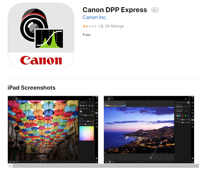 Canon moving DPPExpress to subscription