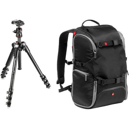 Flash Deal: Manfrotto BeFree Compact Travel Aluminum Tripod and Advanced Travel Backpack Kit