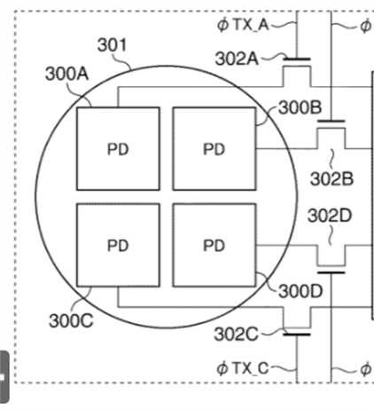 Another Quad Pixel AF sensor patent application