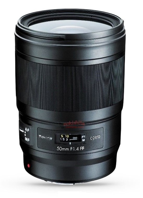 Tokina to announce opera 50 mm F1.4 full frame lens for Canon EF mount