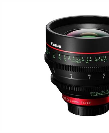 Canon announces the CN-E20mm T1.5 L F lens