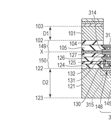 Canon Patent Application: Stacked Sensor Patent