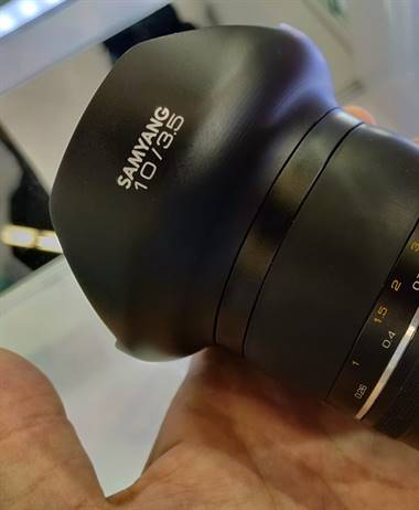 New Samyang 10mm 3.5 on display at Photokina