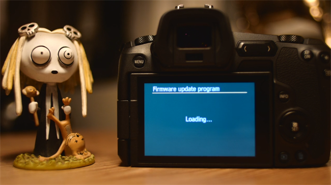 Magic Lantern booted on the EOS R!