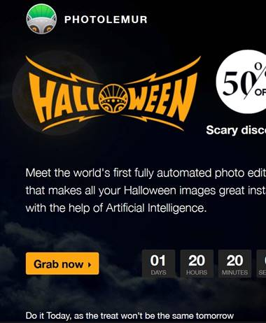 Halloween Special: Photo Lemur 50% off