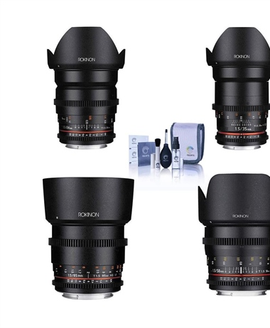 Adorama Deal: Rokinon CINe DS lens bundles for 33% off