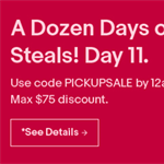 Ebay one day only deal 10-15% off